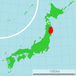 Iwate map by Lincun, via Wikimedia Commons