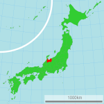 Map showing Toyama by Lincun via Wikimedia Commons