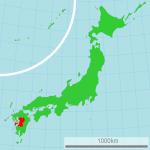 Kumamoto map by Lincun via Wikimedia Commons