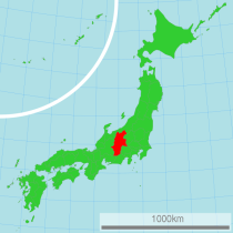 Nagano Prefecture map by Lincun via Wikimedia Commons